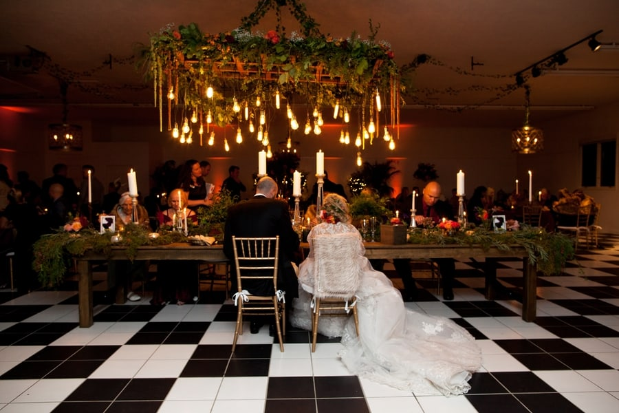 The bridal table in The Sunset Barn