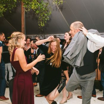 A groom tearing up the dance floor at The Horse Shoe Farm